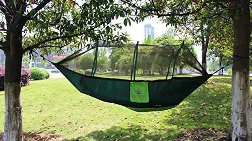 everking double camping hammocks with mosquito  lightweight parachute nylon fabric double hammock for outdoor travel camping hiking backpacking backyard     everking double camping hammocks with mosquito  lightweight      rh   rooftoptentstore