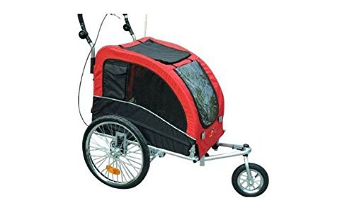 Aosom Elite II Pet Dog Bike Bicycle Trailer Stroller Jogger w/ Suspension u2013 Red The front wheel can be fixed for jogging and can swivel for strolling The ...  sc 1 st  Roof Top Tent Store & Bicycle | Roof Top Tent Store